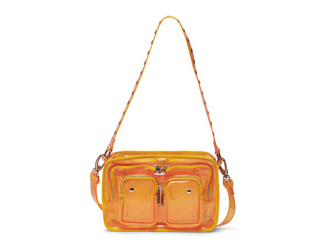 Núnoo Ellie transparent orange 투명스트랩백