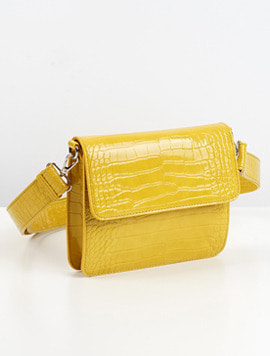 Hvisk Cayman Shiny Strap Bag yellow 스트랩크로스백
