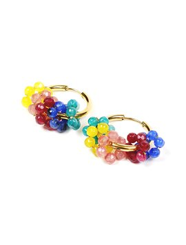Colorful beads earring